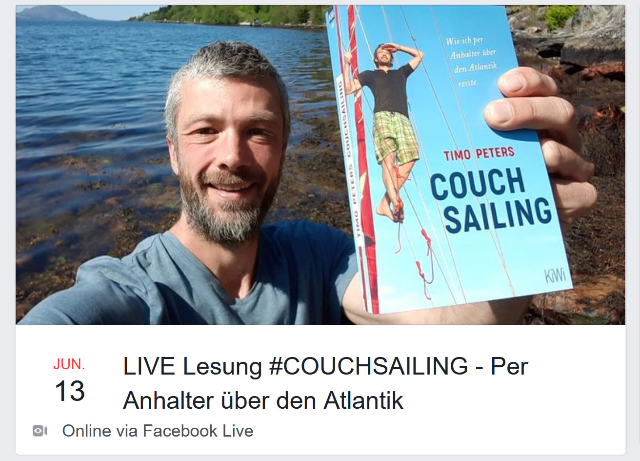 Couchsailing Facebook-LIVE