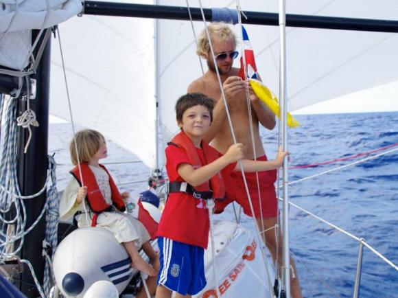 Segeln mit der Familie in der Karibik